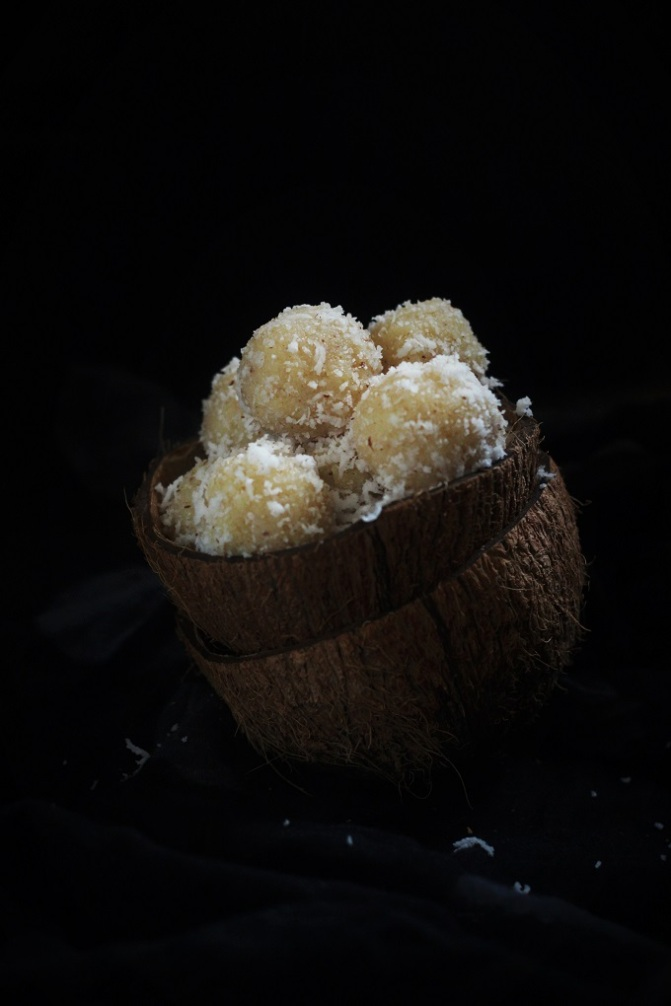 indian food photography, coconut ladoo styling, dubai food blogger,
